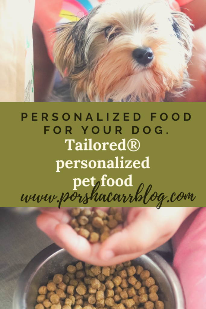 Tailored® personalized pet food