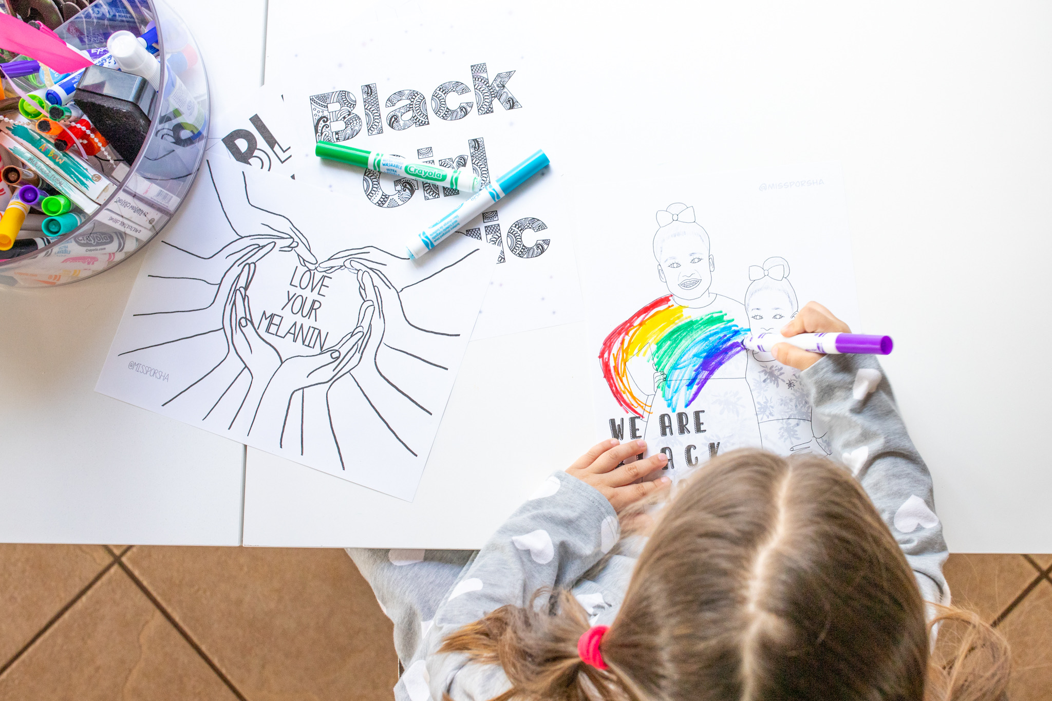 Free black history month coloring printables.